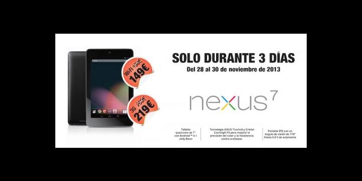 El Nexus 7 de 2012 baja su precio a los 149 euros