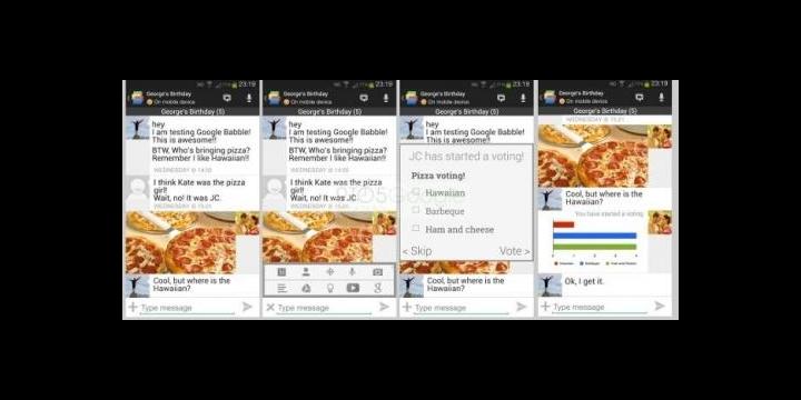 Google Babble se deja ver en imágenes
