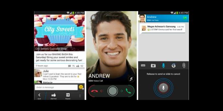 BlackBerry Messenger 2.0 para Android añade llamadas gratuitas
