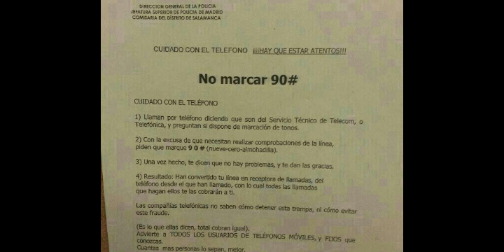 La nueva estafa del 90# que circula por WhatsApp