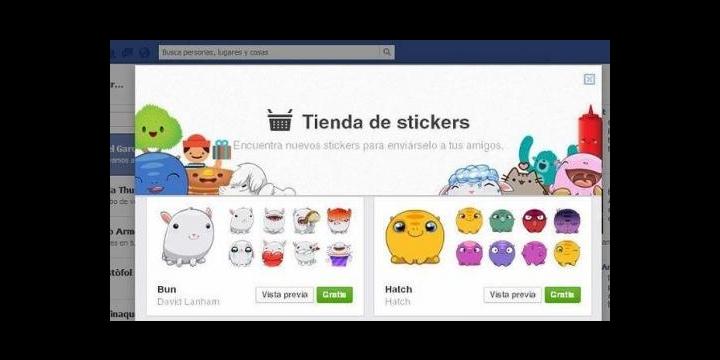 Los stickers de Facebook llegan a la versión web del chat