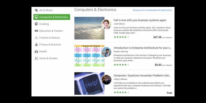 Google Helpouts, clases a través de Hangouts