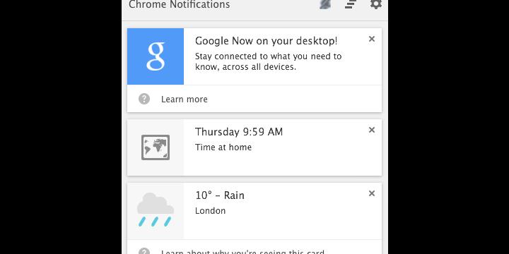 Google Now llega a Chrome
