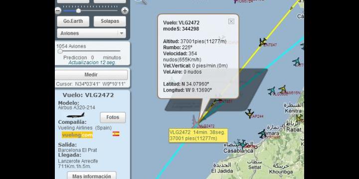 Localizatodo, localización de aviones, barcos y más en tiempo real