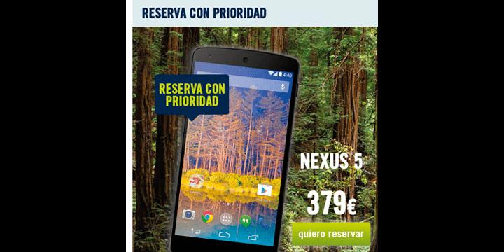 El Nexus 5 se podrá comprar en Phone House