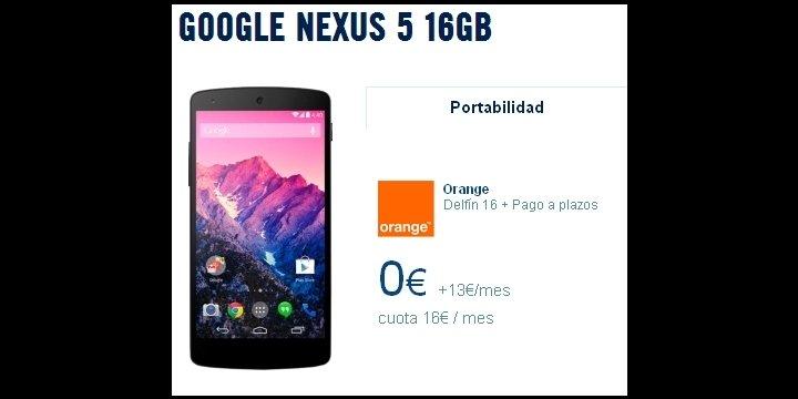 Nexus 5 desde 3 euros al mes más tarifa con Orange