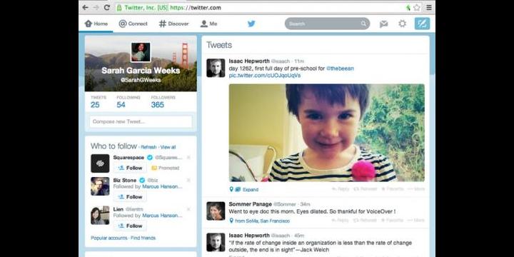 Twitter renueva su cliente web para adaptarlo al diseño de las apps