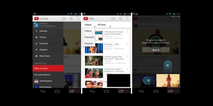 Google renueva su app de YouTube para Android