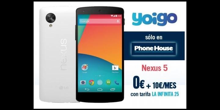 Nexus 5 a 0 euros con Yoigo