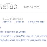Onetab, extensión para condensar nuestras pestañas de Chrome en una sola