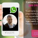 Envía WhatsApp a los políticos españoles: conoce sus números