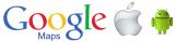Un dibujo en Google Maps muestra cómo Android se ríe de Apple