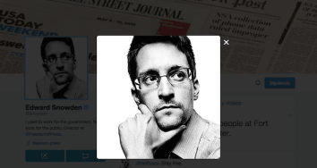 Edward Snowden recibe 47GB de notificaciones