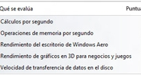 Calcula la Evaluación de la experiencia en Windows 8.1