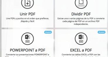 Divide, une, convierte y comprime archivos PDF online