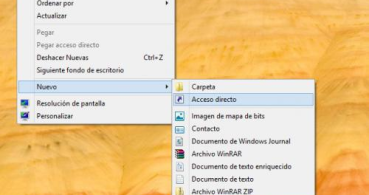 Crear un acceso directo para apagar Windows