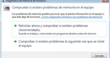Cómo comprobar el estado de la memoria RAM en Windows