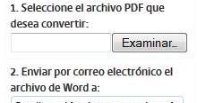 Convertir archivo PDF a Word