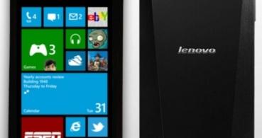Lenovo también lanzará un smartphone con Windows Phone