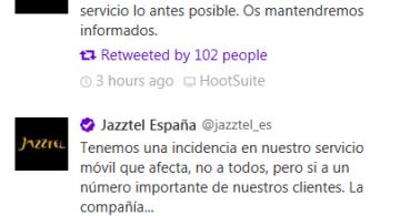 Jazztel está sufriendo una caída de su servicio