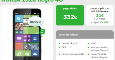 El Nokia Lumia 1320 ya está disponible con Amena