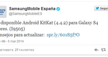Los Samsung Galaxy S4 libres ya están recibiendo Android 4.4.2 KitKat