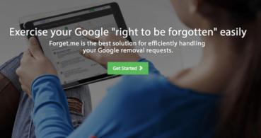 Forget.me, una iniciativa que te ayuda a ejercer el derecho al olvido en Google