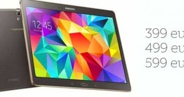 Samsung confirma el precio y la fecha de lanzamiento del Samsung Galaxy Tab S