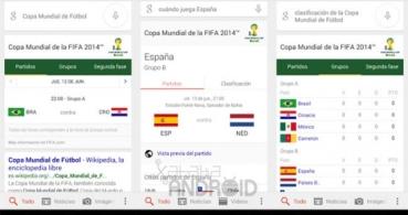 Toda la información del Mundial de Fútbol en tiempo real con Google Now