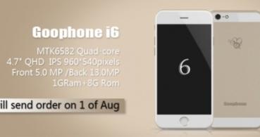 GooPhone i6, el clon del iPhone 6 se le adelanta