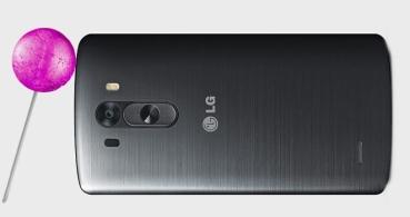 LG G3 actualizará a Android 5.0 Lollipop la próxima semana