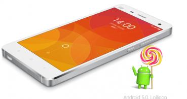 Android Lollipop llegará a los smartphones Xiaomi