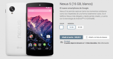 Nexus 5 se vuelve a agotar en cuestión de horas