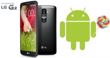 LG G2 comienza a recibir Android 5.0 Lollipop de forma oficial