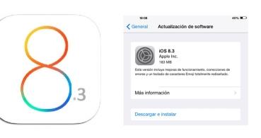 iOS 8.3 ya está disponible con gran cantidad de correcciones