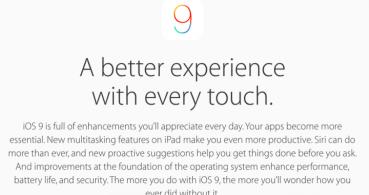 iOS 9.0.1 ya disponible para corregir los errores que arrastraba