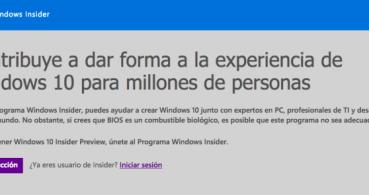 Cómo dejar de recibir builds de Windows 10 Insider