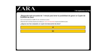 Cuidado con los falsos cupones de Zara ¡no los compartas!
