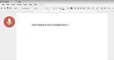Escribe con la voz en Google Docs