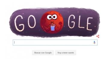 Google celebra el descubrimiento de agua en Marte con un Doodle