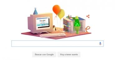 Google celebra su 17° aniversario con un doodle