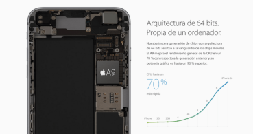 La batería del iPhone 6s Plus iguala a la del Galaxy S6 Edge +
