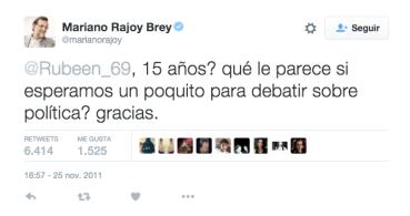 La esperada venganza de un joven a Rajoy en Twitter