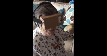 La abuela prueba la realidad virtual por primera vez, el nuevo viral de la risa