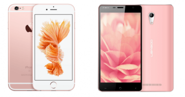 5 smartphones de color rosa