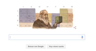 Google homenajea a Dmitri Mendeléyev con un Doodle