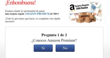 Cuidado con los correos que regalan 500 euros en Amazon