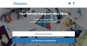 30dayspics, crea un álbum con las últimas 30 fotos de Instagram