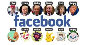 Personaliza las reacciones de Facebook con iconos de Pokémon o Donald Trump