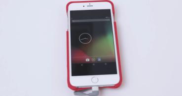Crean una funda que permite ejecutar Android en un iPhone